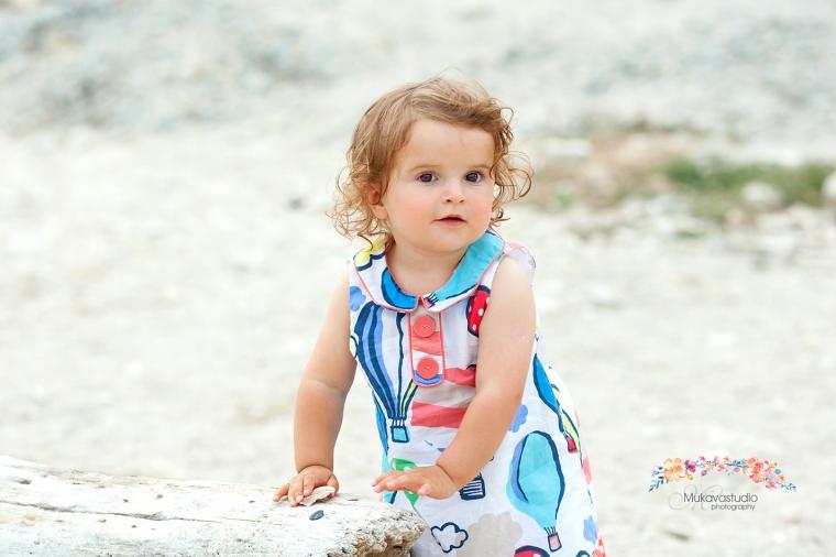 детска фото сесия на плажа